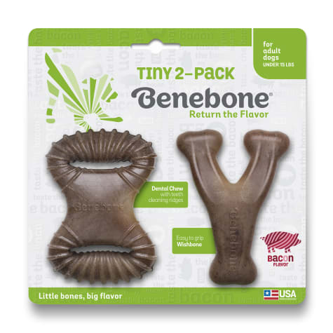 Benebone Tiny Bacon Chew Dog Toy