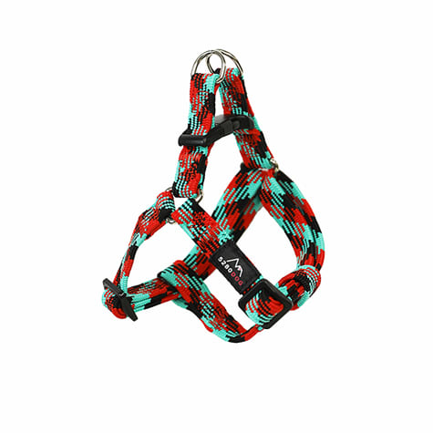 5280 DOG Red Nylon Braided Step-In Harness