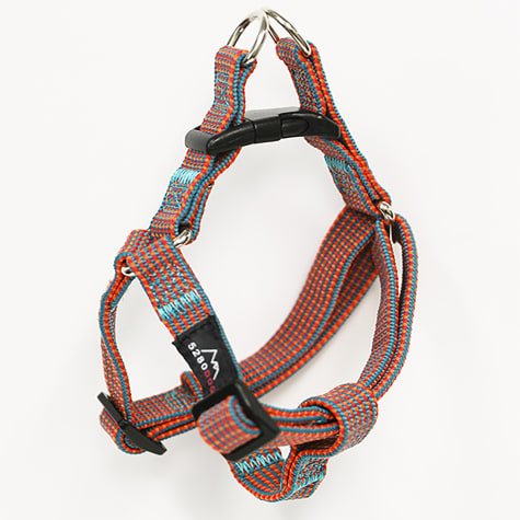 5280 DOG Orange Nylon Braided Step-In Harness
