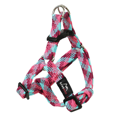 5280 DOG Pink Nylon Braided Step-In Harness