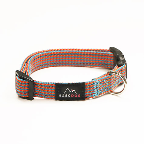 5280 DOG Orange Nylon Braided Collar