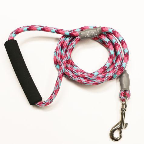 5280 DOG Pink Nylon Braided Rope Leash