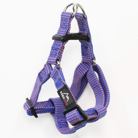 5280 DOG Blue Nylon Braided Step-In Harness