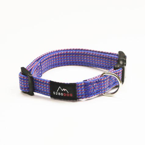 5280 DOG Blue Nylon Braided Collar