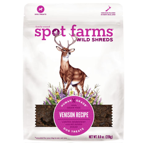 Spot Farms All Natural Wild Shreds Venison Recipe Dog Treats