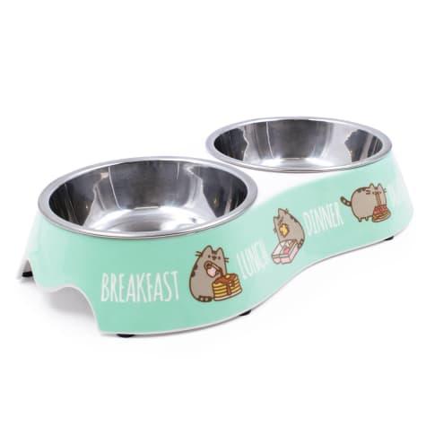 Pusheen Mealtime Blue Double Pet Bowl