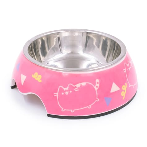 Pusheen Dance Party Pink Stainless Steel Cat Bowl