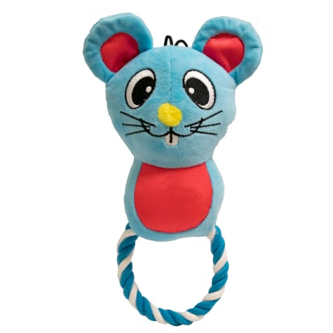 Good Stuffing Plush Rope Ring Mouse Dog Toy