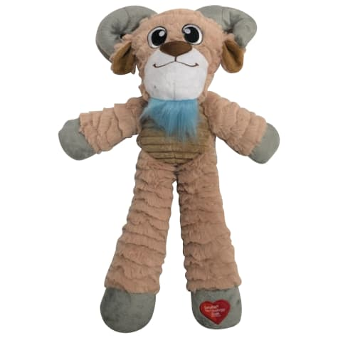 Good Stuffing Plush Long Body Goat Dog Toy