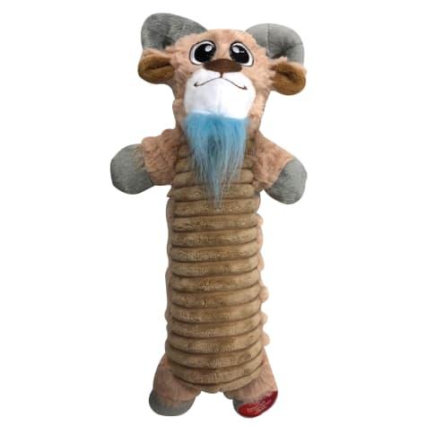 Good Stuffing Plush Bottle Crunch Goat Dog Toy