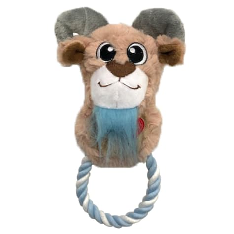 Good Stuffing Plush Rope Ring Goat Dog Toy