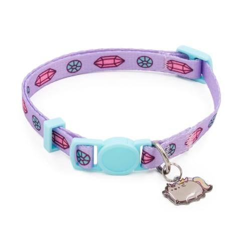 Pusheen Purple Gem Safety Cat Collar
