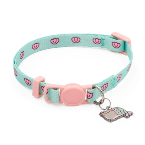 Pusheen Mermaid Mint Shell Cat Collar With Charm