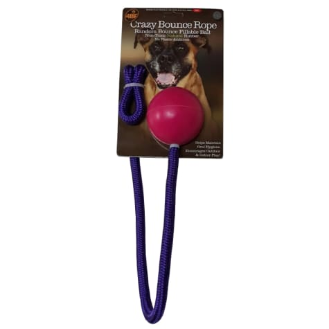 4BF Crazy Bounce Rope Pink Dog Toys