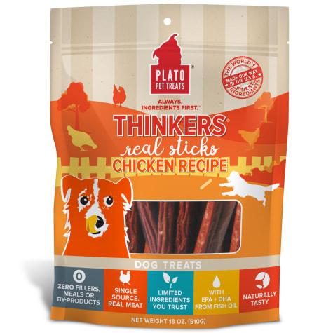 Plato Pet Thinkers Chicken Sticks Dog Treats
