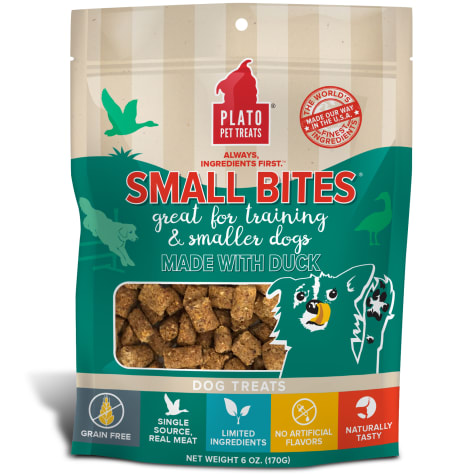 Plato Pet Small Bites Made with Duck Dog Treats