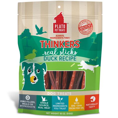 Plato Pet Thinkers Duck Sticks Dog Treats
