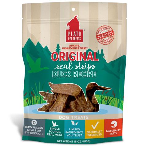 Plato Pet Natural Duck Strips Dog Treats