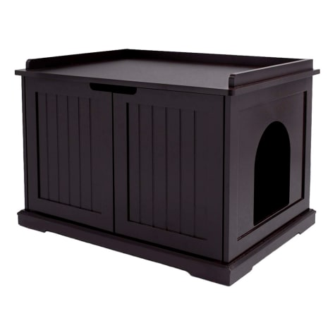 UniPaws Espresso Litter Box Cat Furniture
