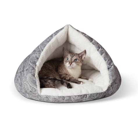 K&H Self Warming Kitty Hut Gray Pet Bed