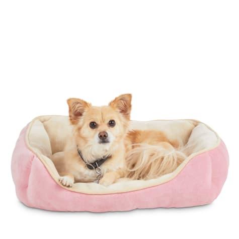 Animaze Pink Rectangle Bolster Dog Bed