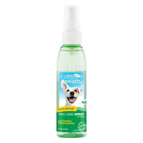 TropiClean Fresh Breath Peanut Butter Oral Care Spray for Dogs