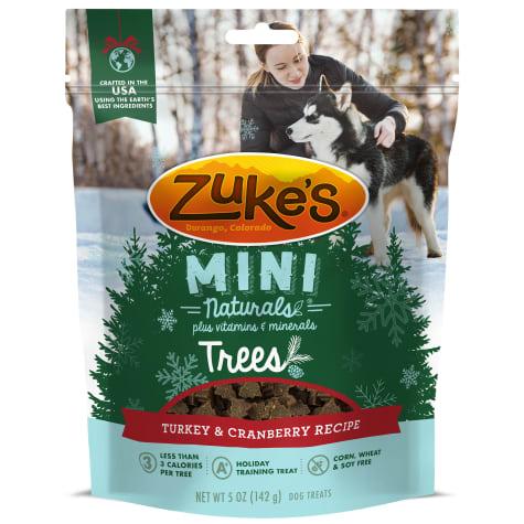 Zuke's Mini Naturals Trees Turkey & Cranberry Dog Treat
