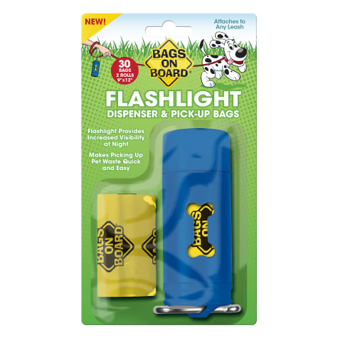 Bags on Board Flashlight Dispenser & Pickup Bags Refill for Dogs