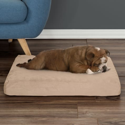 PETMAKER Orthopedic Tan Pet Bed Egg Crate and Memory Foam with Washable Cover