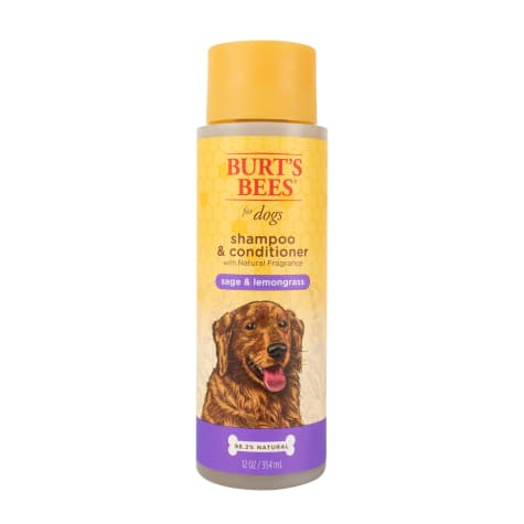 Burt's Bees Natural Pet Care Shampoo & Conditioner Sage & Lemongrass Scent