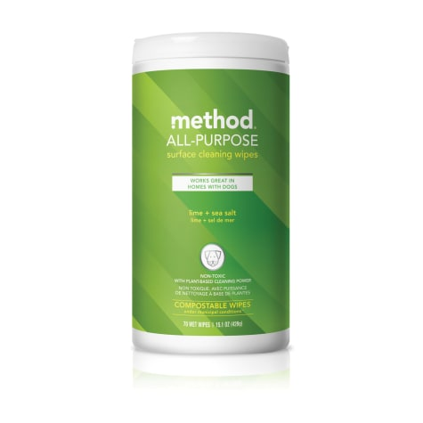 Method Lime + Sea Salt All-Purpose Cleaning Wipes for Dog
