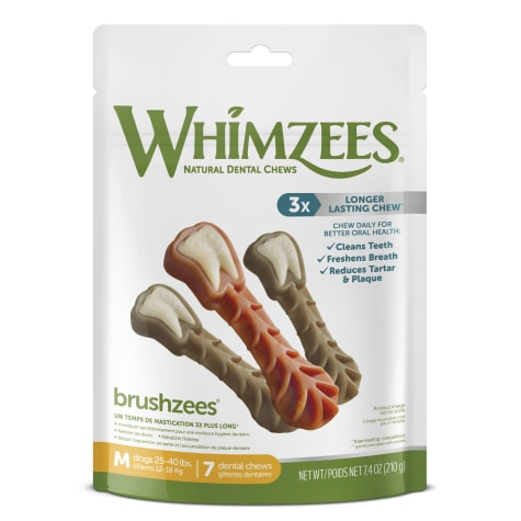 Whimzees Natural Grain Free Daily Dental Medium Dog Treats