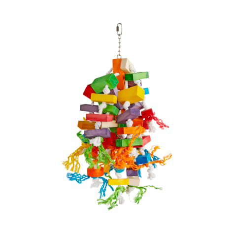 You & Me Colorblock Cluster Chewing Bird Toy