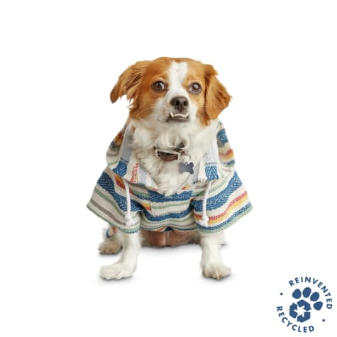 Bond & Co. Recycled & Reinvented Baja Blue Hoodie for Dogs
