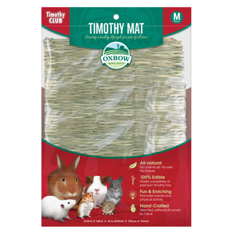 Oxbow Timothy Club Timothy Hay Mat for Small Animals