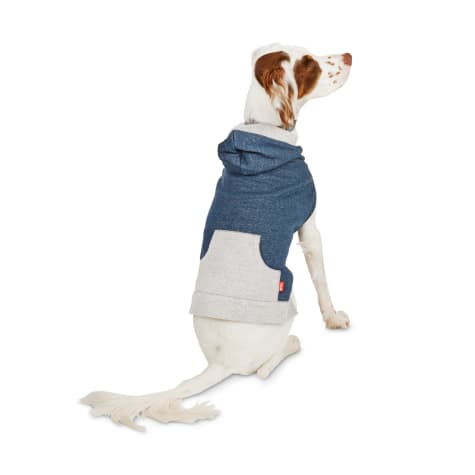 Reddy Navy & Grey French-Terry Dog Hoodie