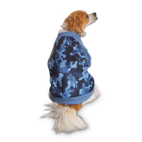 Reddy Indigo Watercolor Camo-Print Dog Pullover