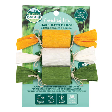 Oxbow Enriched Life Shake, Rattle & Roll Chew for Rabbits