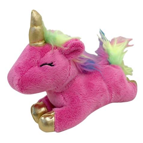 foufouBRANDS fouFIT Pink Unicorn Plush Dog Toy