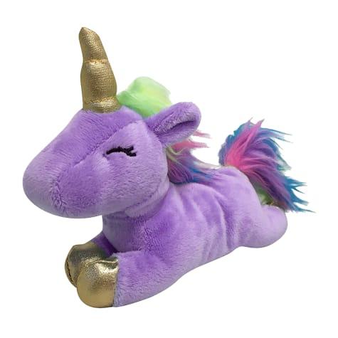 foufouBRANDS fouFIT Lilac Unicorn Plush Dog Toy
