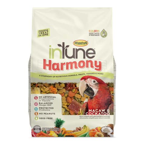 Higgins inTune Harmony Fruit Extruded Macaw and Cockatoo Bird Food
