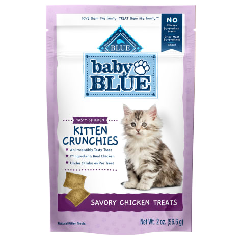 Blue Buffalo Baby Blue Crunchies Natural Savory Chicken Kitten Treats