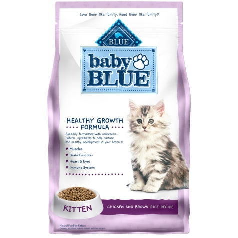 Blue Buffalo Baby Blue Healthy Growth Formula Natural Chicken and Brown Rice Recipe Kitten Dry Food