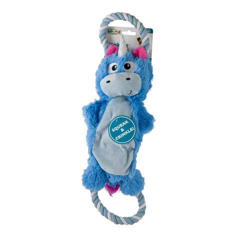 Outward Hound Yankiez Unicorn Blue Dog Toys
