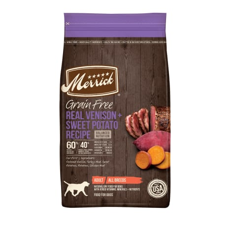 Merrick Grain Free Real Venison + Sweet Potato Recipe Dry Dog Food