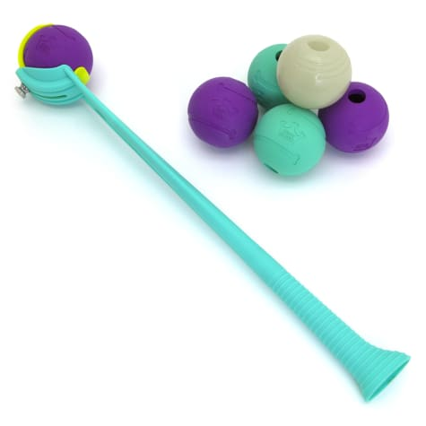 Chew King 6 Balls with Ball Launcher Combo Dog Toy