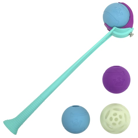 Chew King 4 Balls with Ball Launcher Combo Dog Toy