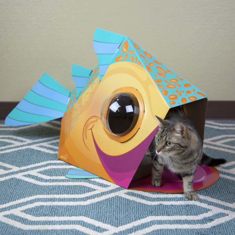 Kitty City Dome Fish Scratcher for Cats