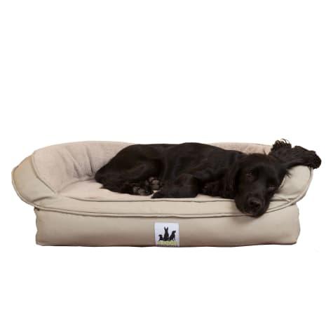3 Dog Personalized EZ Wash Memory Foam Fleece Bolster Grey Dog Bed