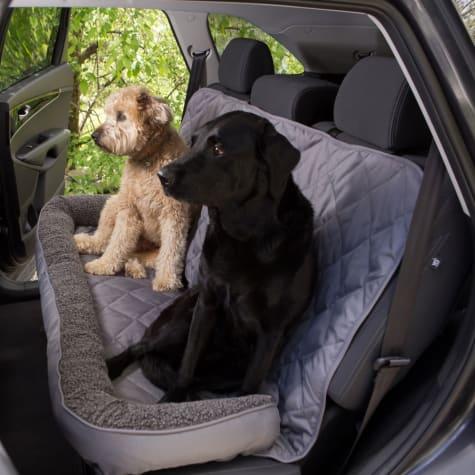 3 Dog No Slip Bolster Fleece Grey Seat Protector
